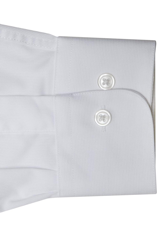Mens Poly Cotton Easy Care Barrel Cuff Sharp Pique