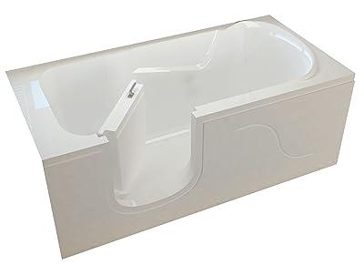Meditub MTSI3060LWS Step In 30 by 60 by 22-Inch Soaker Bathtub Spa Left Side Door