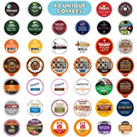 Coffee Pods Variety Pack Sampler, Assorted Single Serve Coffee for Keurig K Cups Coffee Makers, 40 Unique Cups