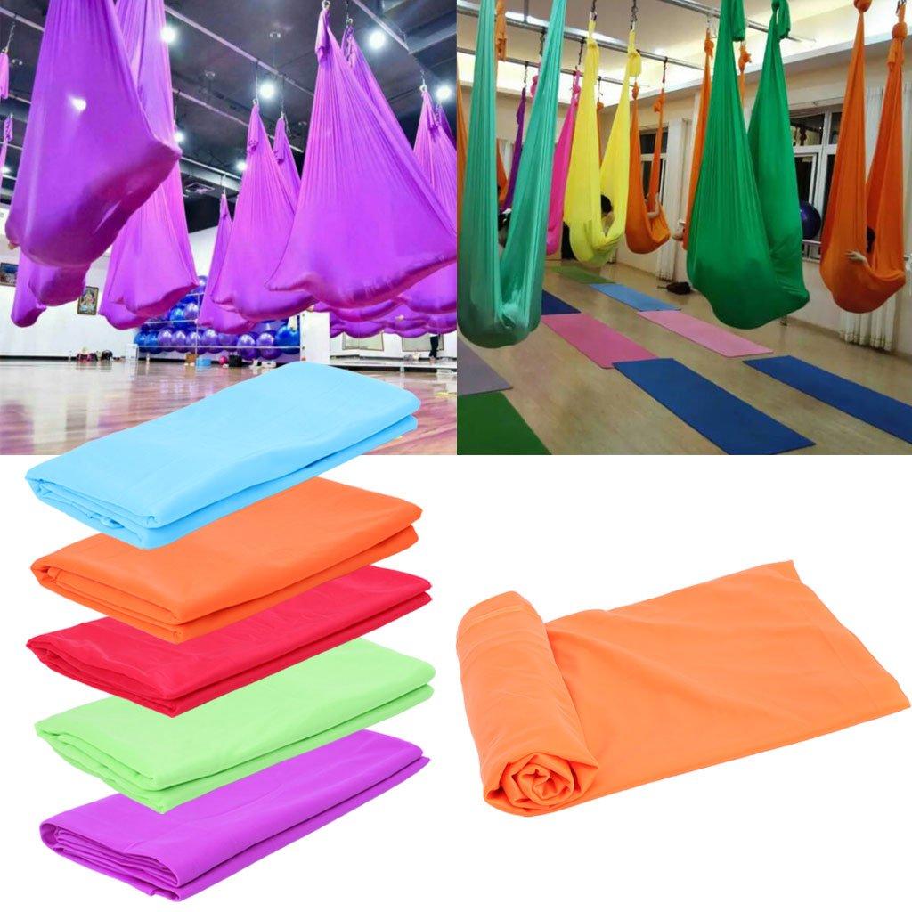 JERKKY Yoga Hamaca Anti Gravedad A/éreo Vuelo Entrenamiento Fitness Swing El/ástico Cielo Azul