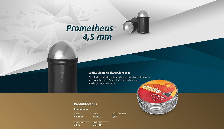 Eva Shop/® Premium Luftgewehrmunition bleifreie H/&N Excite Prometheus 4,5mm Luftgewehrkugeln f/ür Luftdruckwaffen Luftgewehr und Luftpistole Beschichtete Premiummunition speziell f/ür Co/²
