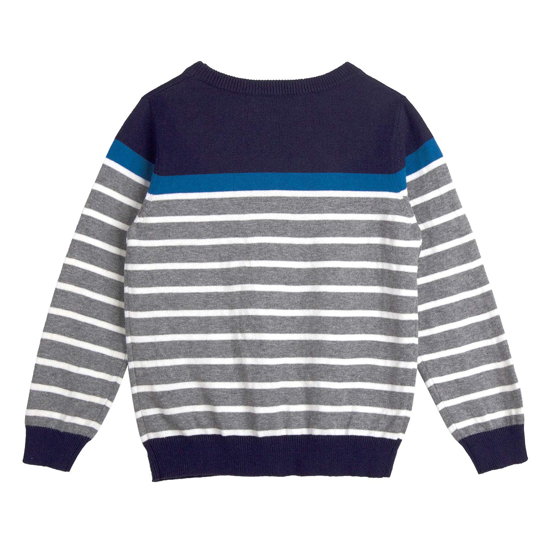 Phoebee Tree Little Boys Girls Long Sleeve Crew Neck Stripe Cotton Knit Pullover Sweater
