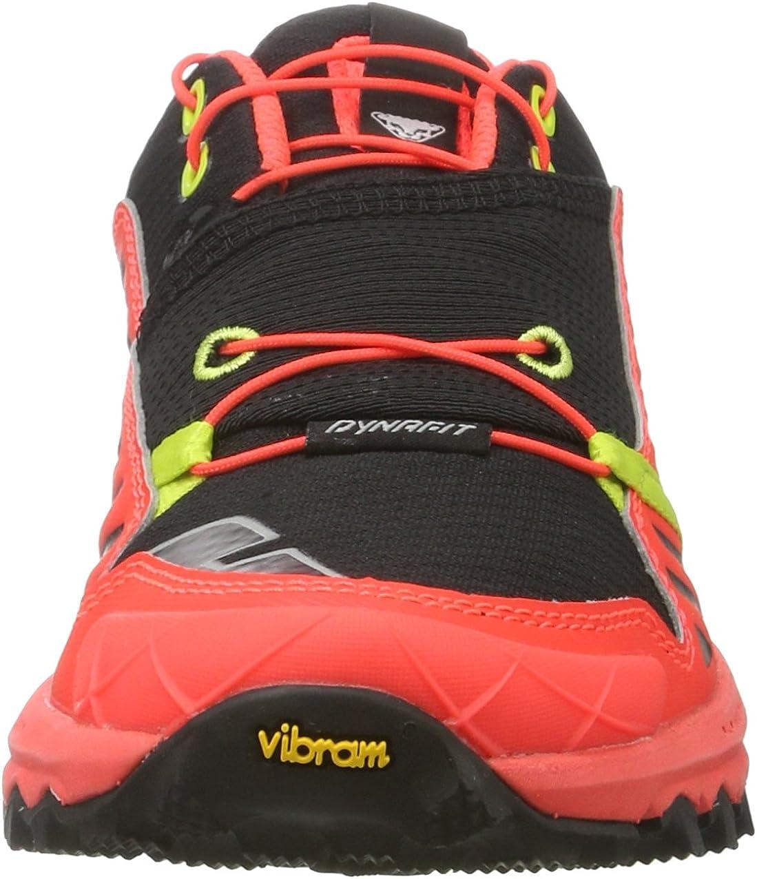 Dynafit Alpine Pro W, Zapatillas de Running para Asfalto para Mujer Multicolor Black Lime Punch