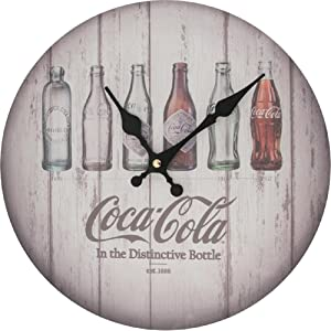 Sunbelt Gifts Coca-Cola Evolution Bottles Clock, Multi