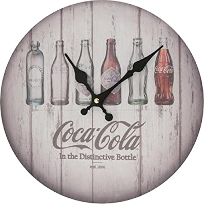 Coca-Cola Contour Bottle Evolution Wall Clock Wood Wall Decor