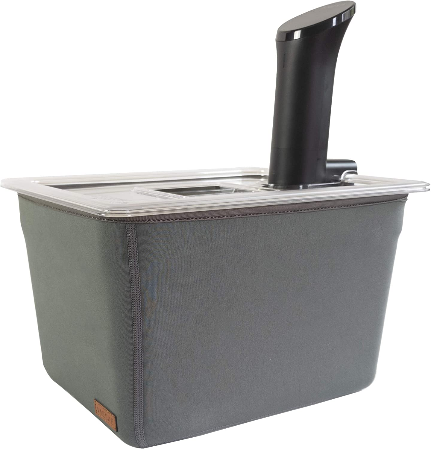 Väeske Sous Vide Container, Lid and Insulating Sleeve Set (12 Qt, Container/Lid/Sleeve)