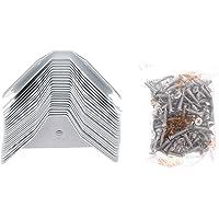 Angoily 24 Stks Doos Hoekbeschermer Case Hoeken Driehoek Metalen Kast Hoekbeschermer Rand Veiligheidsbumpers Meubels…