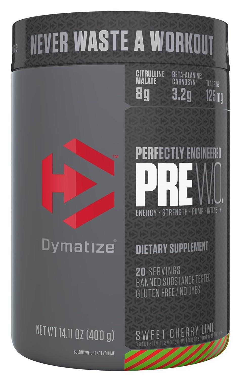 Dymatize Pre Workout Supplement, Sweet Cherry Lime, 400 Gram