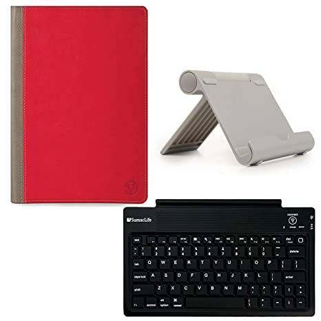 Folio Tablet Cover Case + Stand + Wireless Keyboard Fit Huawei Honor Pad 5  WiFi/MediaPad T5 10 & T5 WiFi/Lenovo Tab P10 / M10 / E10 / 10 / Chuwi Hi9