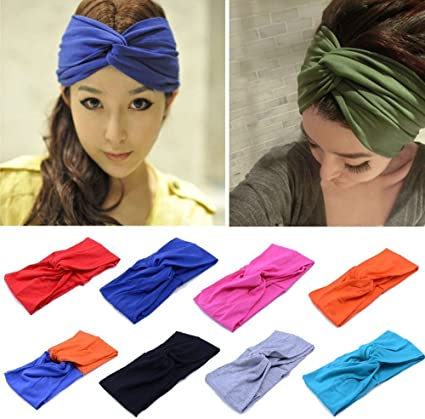 Women Wide Sports Yoga Headband Stretch Hairband Elastic Lady Hair Band TurbanUK