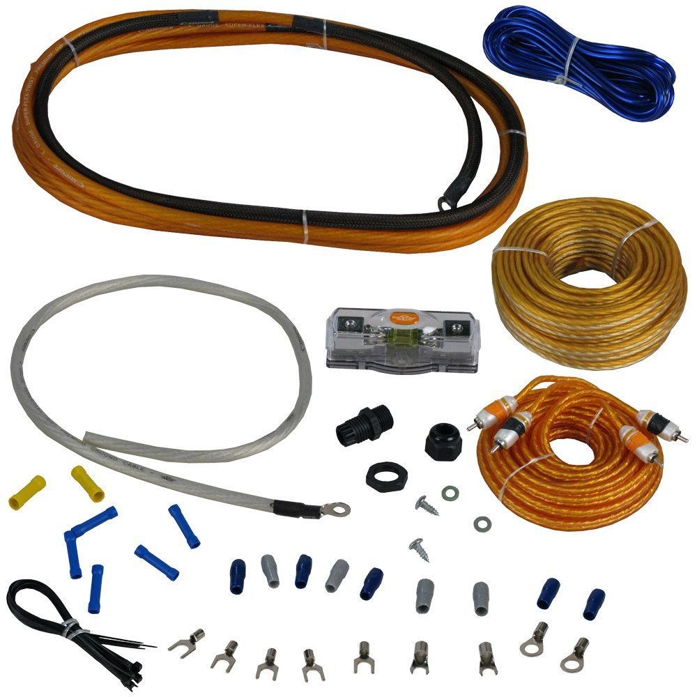 Cadence Acoustics AMPKIT8 17' Oxygen Free Copper OFC RCA Power Amplifier Kit Wires