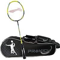 Li-Ning Pro Badminton Combo (Turbo X 80 II Lightweight Badminton Racquet, Black/Green + Prokick Double Zipper Badminton Kitbag, Black)
