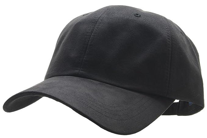 2a72c900f98 Men Blank Faux Suede Plain Baseball Cap XL XXL XXXL Big size Adjustable  (Black)