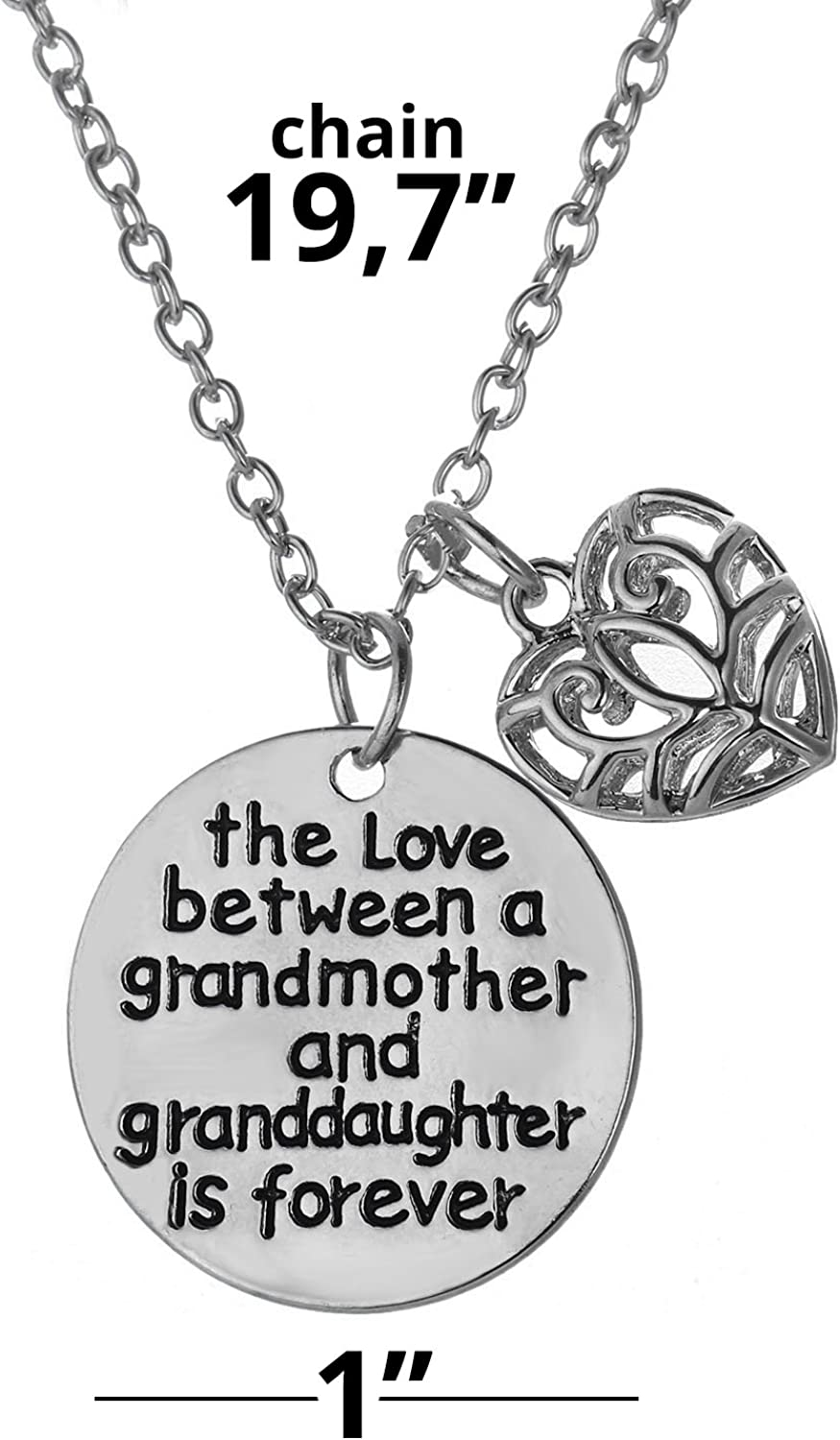 Niceter Love Between a Grandmother and Grandson is Forever Key Chains Rings Family Jewelry