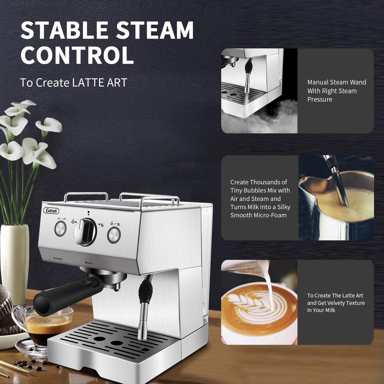 Espresso Coffee Machine,15 Bar Commercial Cappuccino Coffee Maker ...