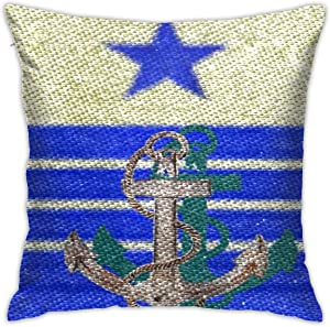 Lhgs5sv Admiral Both Sides Throw Pillow Covers Cotton Home Decor Sofa Square Cushion Cover Pillow Case 18x18 in