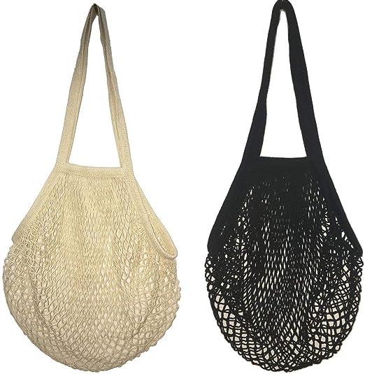 Bolsas de Malla Reutilizables,2 Pack Bolsa de Compra de Red de ...