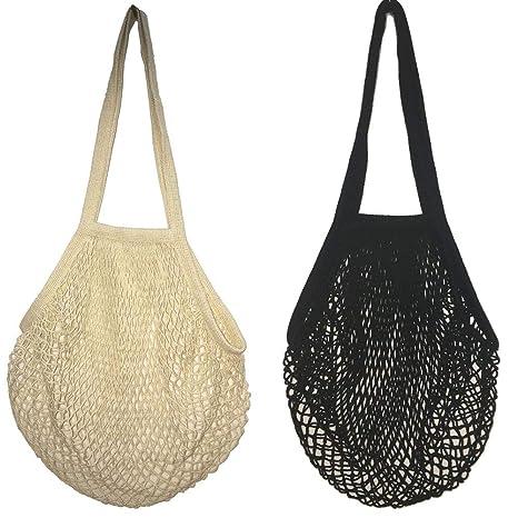 Bolsas de Malla Reutilizables,2 Pack Bolsa de Compra de Red ...