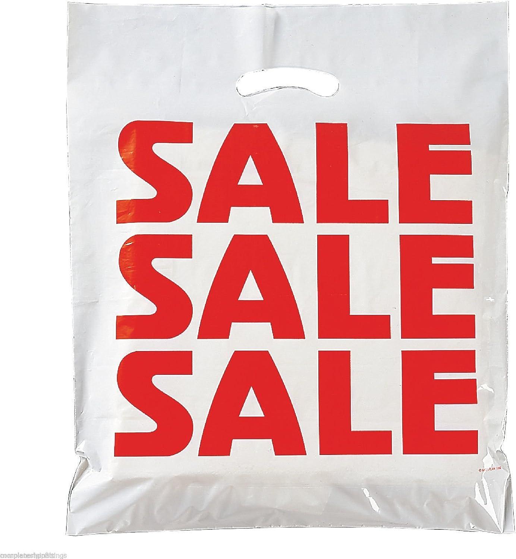 100 bolsas de plástico resistentes troqueladas (venta de 15 x 18 pulgadas + 3)
