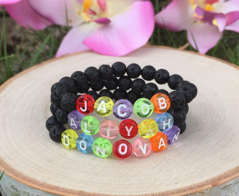 Personalized Bracelet for Kids Kids Essential Oil Jewelry Choose the Size Custom Name Bracelet