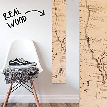 Amazon Growth Chart Art Wooden Map Growth Chart For Kids