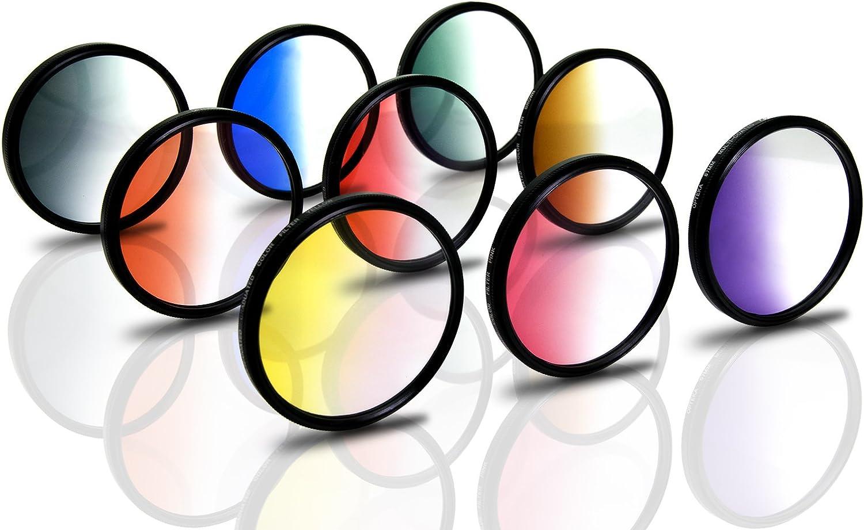 E-400 E-410 E-500 Opteka 19-Piece Graduated and Solid Color Filter Kit for Olympus EVOLT E-5 E-520 Fits 58mm Threads E-450 E-600 E-620 E-510 E-420 E-330 and E-300 Digital SLR Cameras