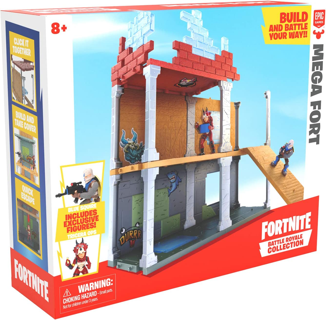 Fortnite 63511 Battle Royale Collection Mega Fort y 2 figuras exclusivas de Tricera Ops y Blue Squire, multicolor , color/modelo surtido: Amazon.es: Juguetes y juegos