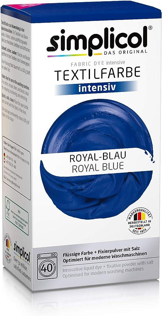 Simplicol Kit de Tinte Textile Dye Intensive Azul : Colorante para ...
