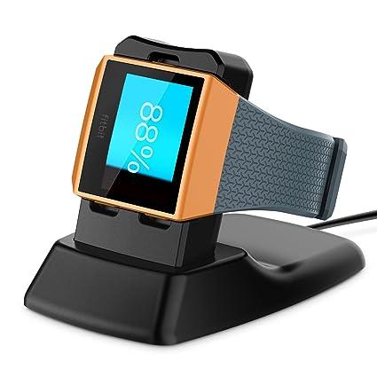 Fitbit Ionic Cargador, Basstop Accesorios de muelle de carga inalámbrico Soporte de carga Soporte de