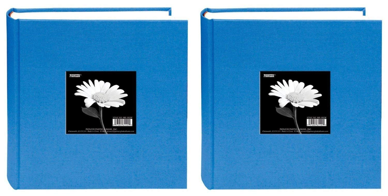 Pioneer 200 Pocket Fabric Frame Cover Photo Album, Sky Blue (2 pack) by pioneer photo Albaums