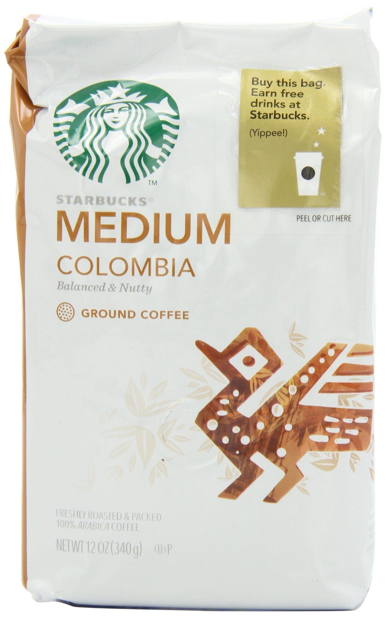 Starbucks Colombia Coffee (Medium), Ground, 12 Ounce (Pack of 6) by Starbucks