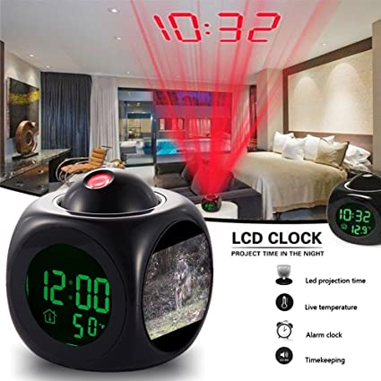 amazon com alarm clock multi function digital lcd voice talking led