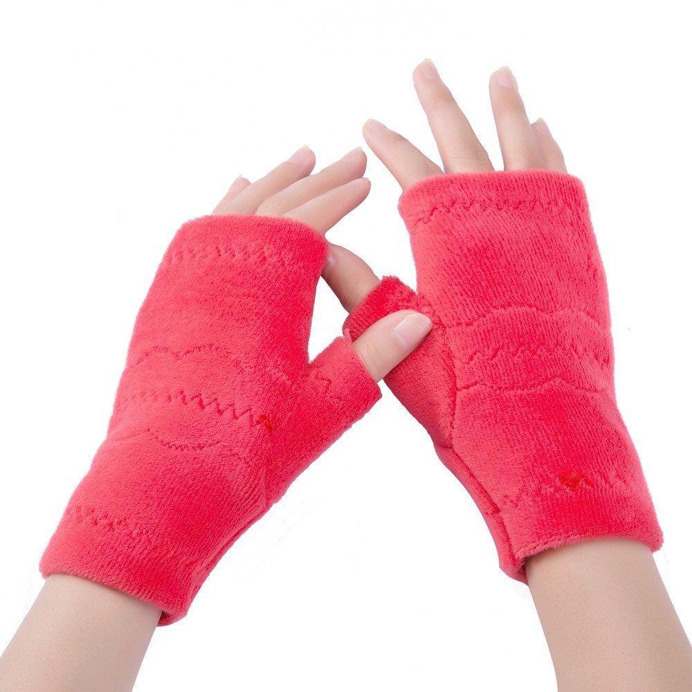KUDICO Womens Teenager Girl Gloves Sale Clearance Winter Arm Fingerless Knitted Warm Soft Gloves Mitten