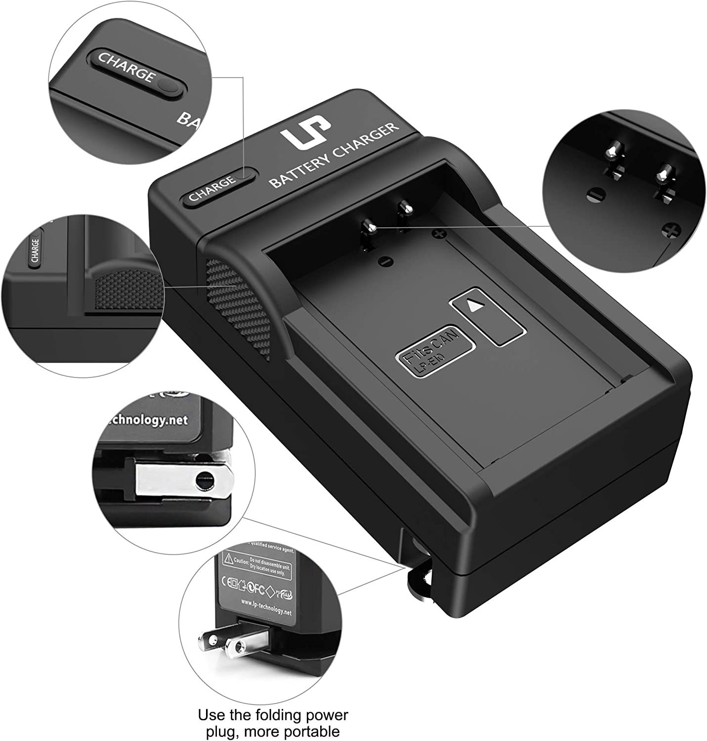 T6 1300D 2000D 4000D T3 Not for T3i T5i T6i T6s T7i T5 1200D LP LP-E10 Battery Rechargeable 1500D 1100D /& More T100 Compatible with Canon EOS Rebel T7 3000D