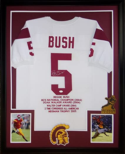 Reggie Bush Framed Stat Jersey Signed JSA COA Autographed USC ...