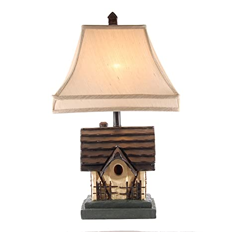 Bird house rustic cabin table lamp birdhouse lamp amazon bird house rustic cabin table lamp aloadofball Image collections