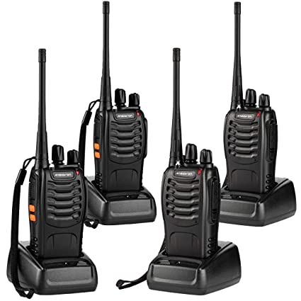 541b78f22b2 ANSIOVON Walkie Talkie-Rechargeable Long Range Two Way Radio-16  Channels-LED Flashlight