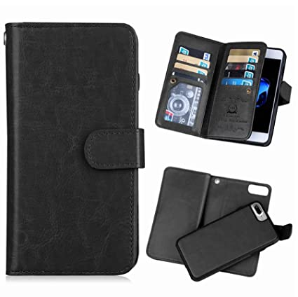 check out 96470 08c74 iPhone 8 Plus iPhone 7 Plus Wallet Case,Hynice Detachable PU Leather Case  Wireless Charging Compatible with 9 Card Slots Holder Magnetic Slim ...