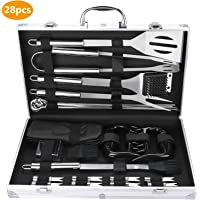 Fixget Barbecue Tool, Stainless Steel BBQ Tools Sets BBQ Grill Tool Kit