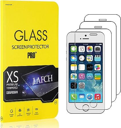 LAFCH HD Alta Trasparenza Pellicola Protettiva iPhone 5s 1 Pezzi Vetro Temperato per iPhone SE//iPhone 5 Anti Graffi Vetro Temperato Pellicola Protettiva per iPhone SE//iPhone 5 iPhone 5s