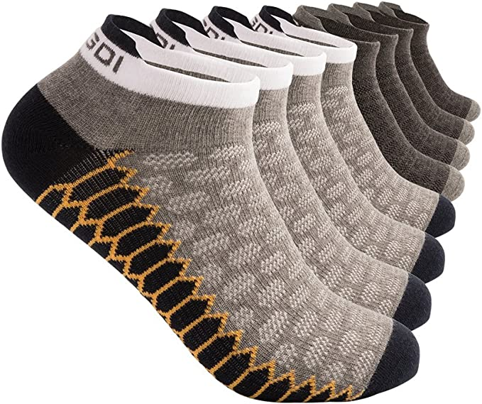 Pree Womens No-Show Athletic Socks 6-Pack