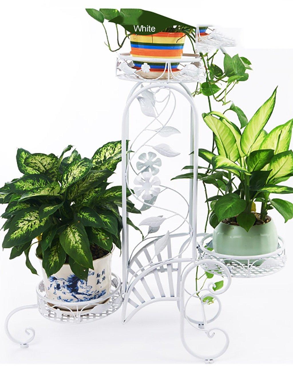 LB huajia ZHANWEI Eisen-Fußboden-mehrschichtiger Blumen-Zahnstange Europäischer Art-Innenbalkon-Blumen-Zahnstange (Farbe : A)