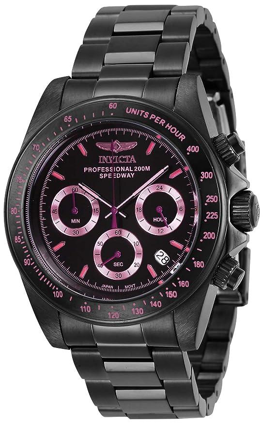 9daa1be50 Invicta 27773 Speedway Unisex Wrist Watch Stainless Steel Quartz Black Dial:  Amazon.co.uk: Watches