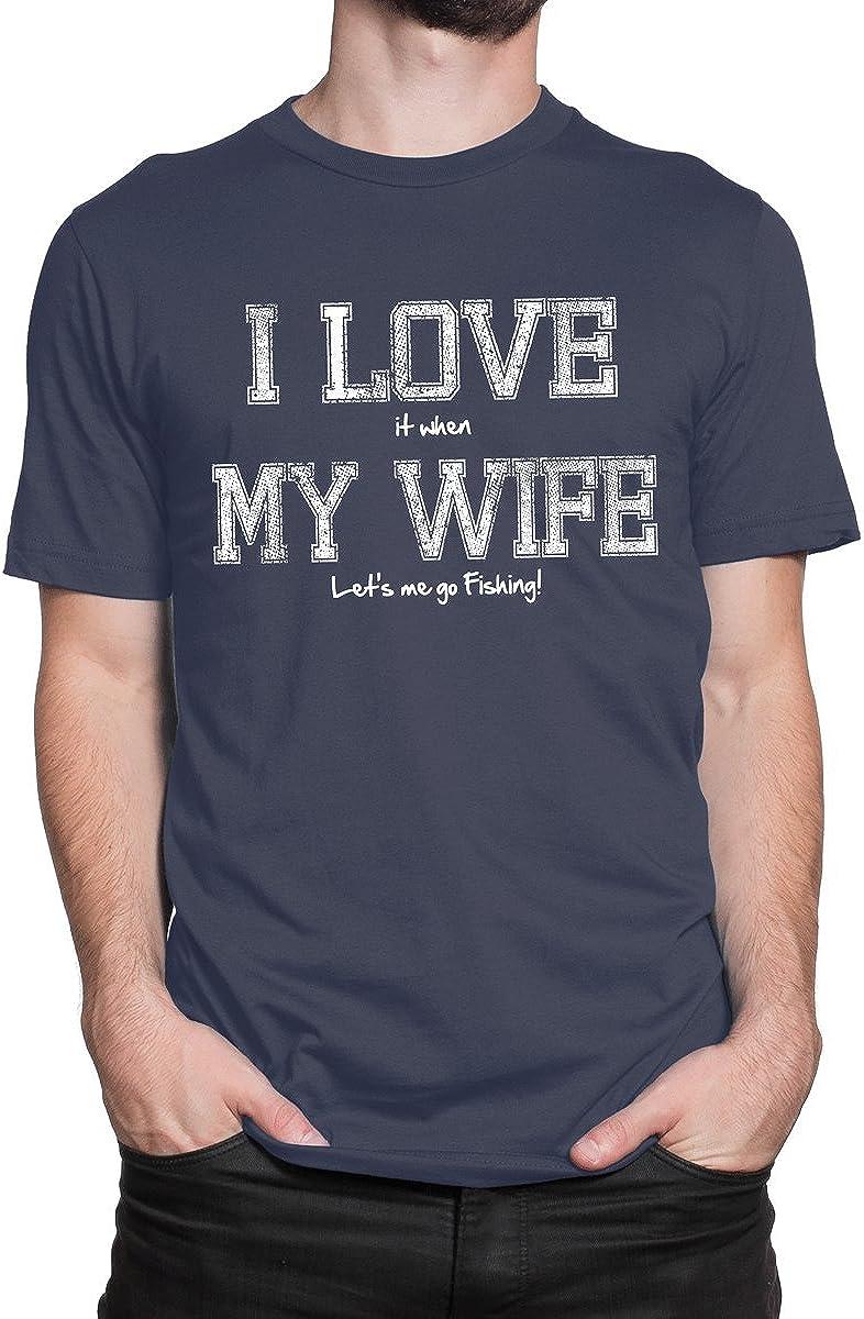 Camiseta para Hombre con Texto en inglés «I Love My Wife ...