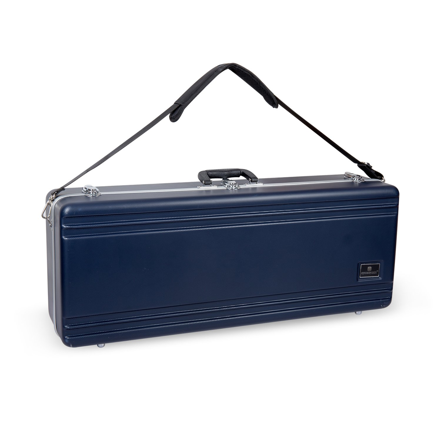 Crossrock CRA860TSSL-R Tenor Saxophone Case- Rectangular ABS Molded with Single Shoulder Strap, Silver