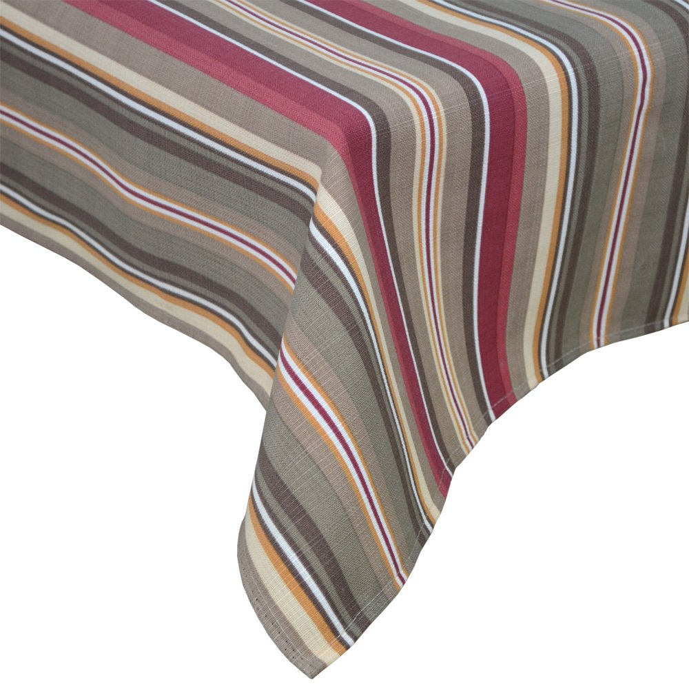 R.LANG Spill proof Table Runner 14 x 104-inch Kitchen Table Runner For Dinner Parties Brown/Wine Red