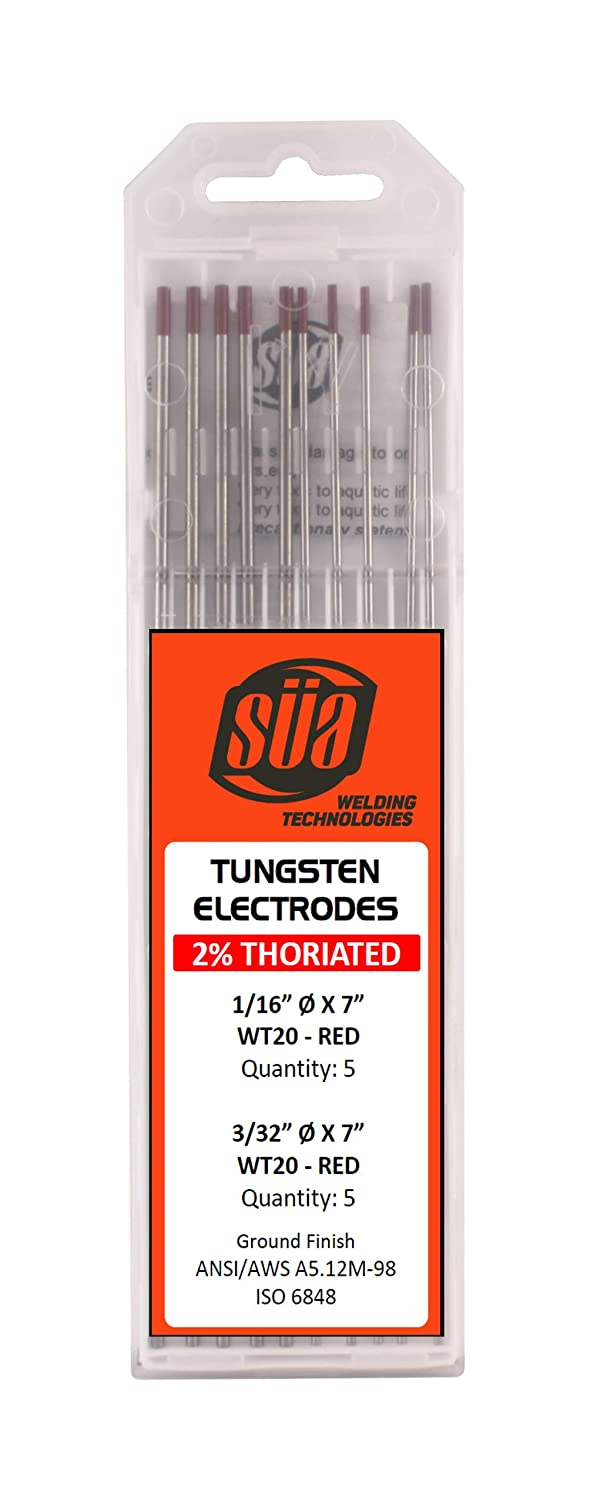 Amazon.com: süa – 2% Thoriated electrodo de tungsteno ...