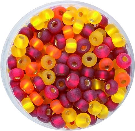 Mehrfarbig Glorex Rocailles Mix 4,5 mm,17g Glas 4 x 4 x 1.5 cm