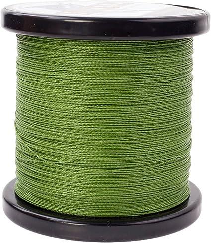 300M FISHING LINE 0.32mm 50LB Army Green 100/% PE Braided 4 strands 328yd