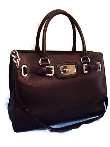 f3d049478138 Amazon.com: Michael Kors Black Leather Hamilton Large EW Tote Handbag  Shoulder Bag: Shoes